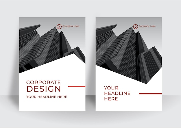 Modèle de conception de couverture rouge moderne. rapport annuel d'entreprise ou modèle de conception de livre