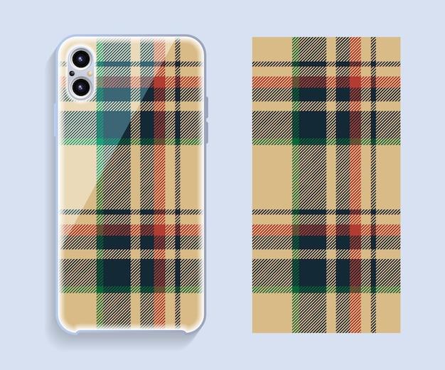 Modèle de conception de couverture de téléphone portable