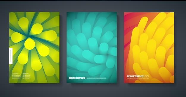 Modèle de conception de couvertures modernes du magazine avec un fond coloré abstrait.