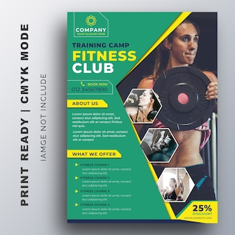 Modèle de conception creative flyer fitness gym