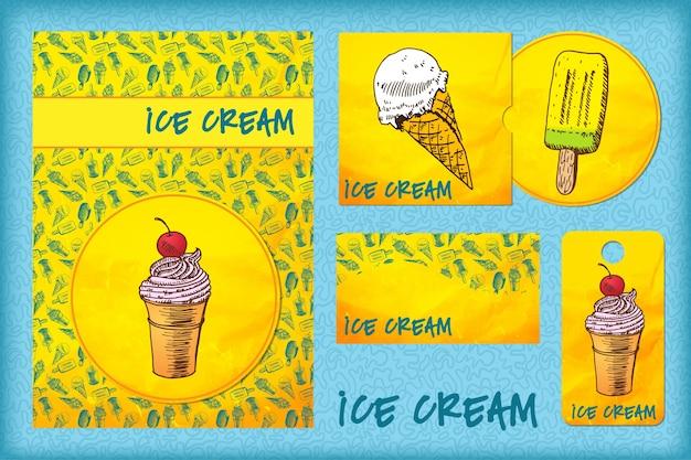 Modèle de conception avec de la crème glacée.