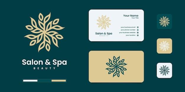Modèle de conception de croissance simple et élégant minimaliste nature, inspiration de conception de logo.