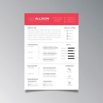 Modèle de conception de cv professionnel minimaliste. vecteur de mise en page d'affaires pour le modèle de demandes d'emploi.