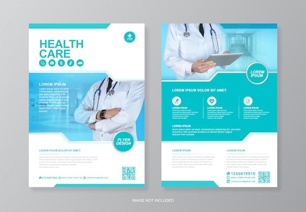 Modèle de conception de dépliant a4 de couverture médicale et médicale