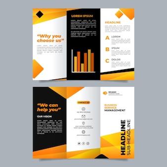 Modèle de conception de dépliant de marque d'entreprise