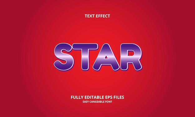 Modèle de conception d'effet de texte en étoile