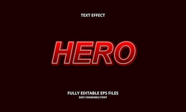 Modèle de conception d'effet de texte de héros
