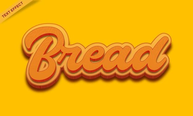 Modèle de conception d'effet de texte de pain