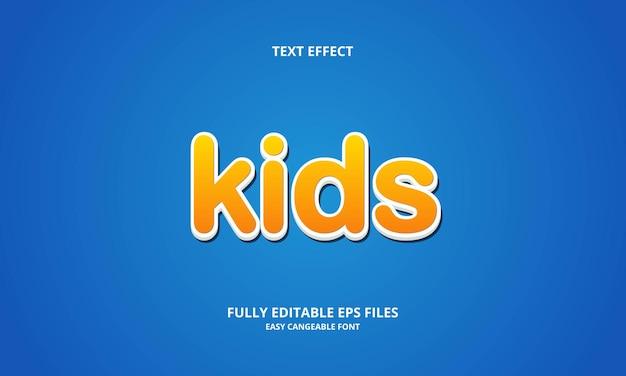 Modèle de conception d'effet de texte pour enfants