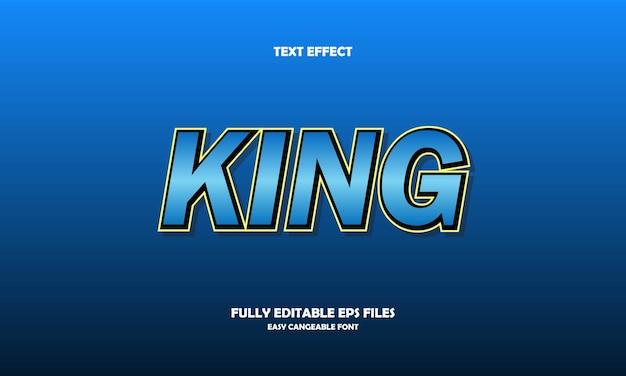 Modèle de conception d'effet de texte roi