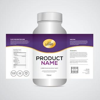 Modèle de conception d'emballage et d'étiquette