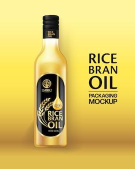 Modèle de conception d'emballage d'huile de son de riz