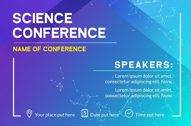 Modèle de conception d'entreprise de conférence scientifique. réunion de publicité de marketing de dépliant de brochure scientifique.