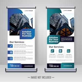 Modèle de conception d'entreprise rollup ou x bannière