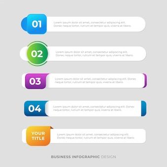 Modèle de conception d'étiquette d'infographie d'entreprise