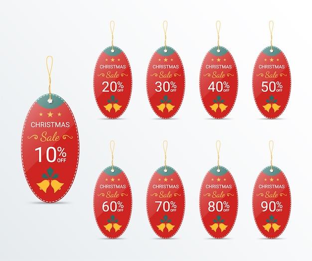 Modèle de conception d'étiquette de prix de noël pour la promotion