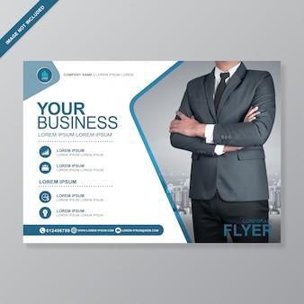 Modèle de conception de flyer a4 business cover