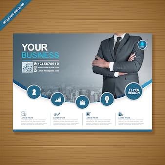 Modèle de conception de flyer a4 entreprise couverture