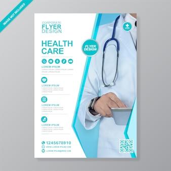 Modèle de conception de flyer a4 pour les soins de santé et la couverture médicale
