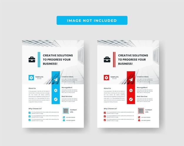 Modèle de conception de flyer d'affaires minimal