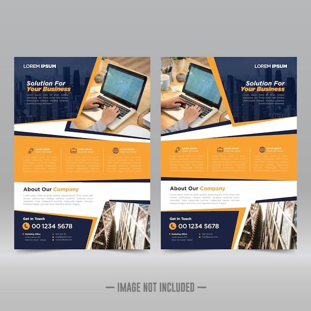 Modèle de conception de flyer d'affiche d'entreprise