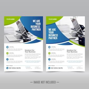 Modèle de conception de flyer affiche d'entreprise