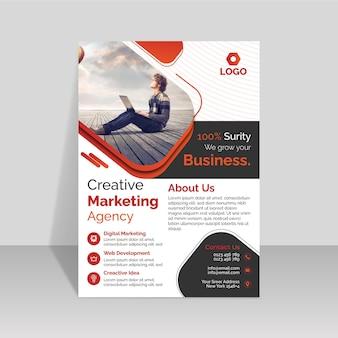 Modèle de conception de flyer d'agence de marketing créatif