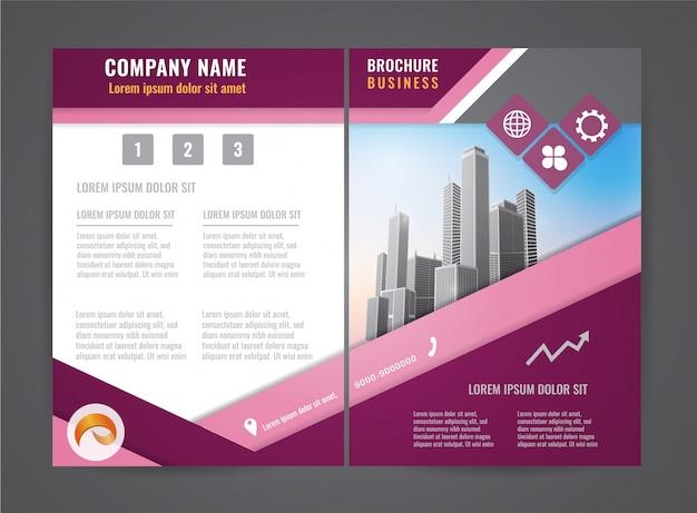 Modèle de conception de flyer brochure moderne.
