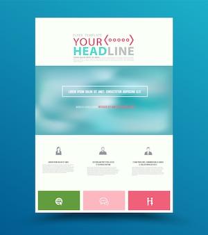 Modèle de conception flyer coloré brochure rapport annuel.