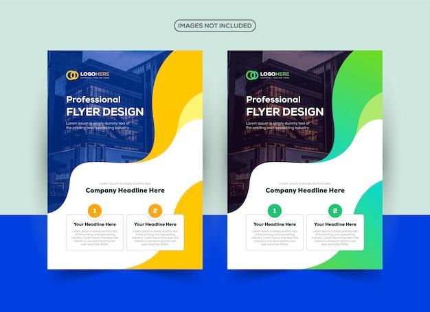 Modèle de conception de flyer créatif