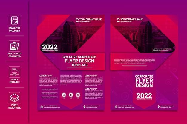 Modèle de conception de flyer d'entreprise créatif