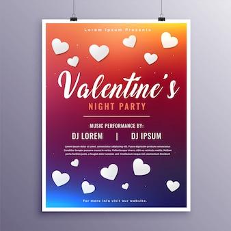 Modèle de conception de flyer heureux saint valentin