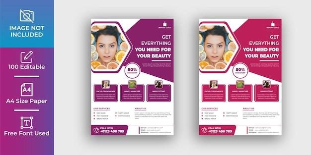 Modèle de conception de flyer de maquillage beauté génial