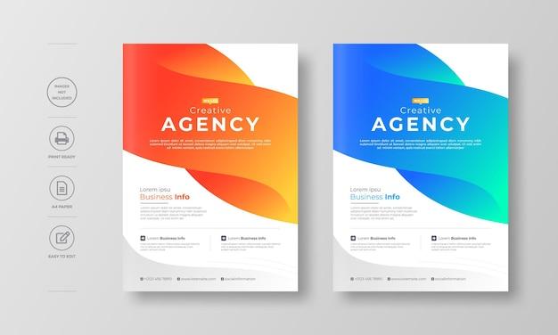 Modèle de conception de flyer moderne d'entreprise