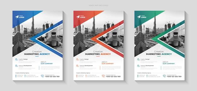 Modèle de conception de flyer pour agence commerciale créative