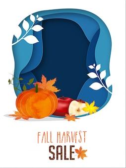Modèle et conception de flyer pour la vente de récolte d'automne.