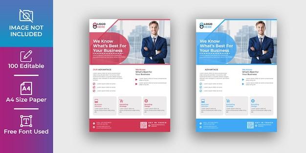 Modèle de conception de flyer professionnel pour entreprise et entreprise