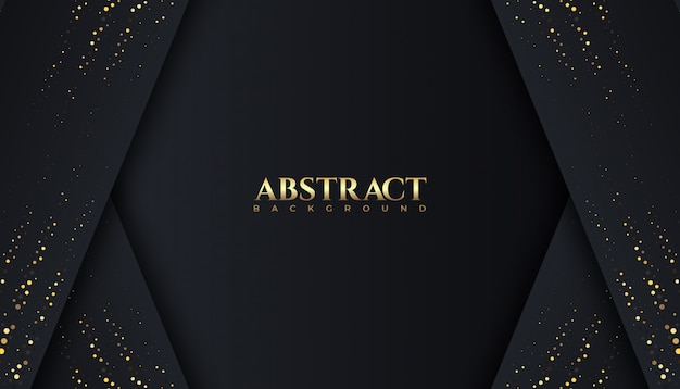 Modèle de conception de fond abstrait de luxe couleur étincelle sombre et or. élégant,
