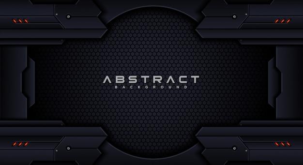 Modèle de conception de fond abstrait tech futuriste