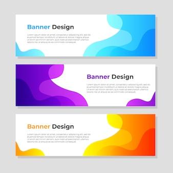 Modèle de conception de fond de bannière abstraite