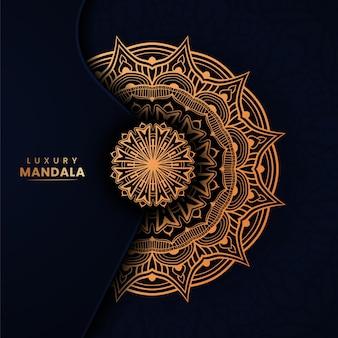 Modèle de conception de fond cercle ornement mandala