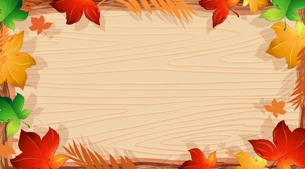 Modèle de conception de fond avec des feuilles orange
