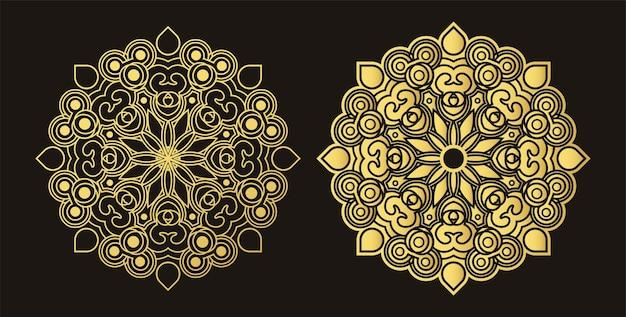 Modèle de conception de fond de luxe mandala