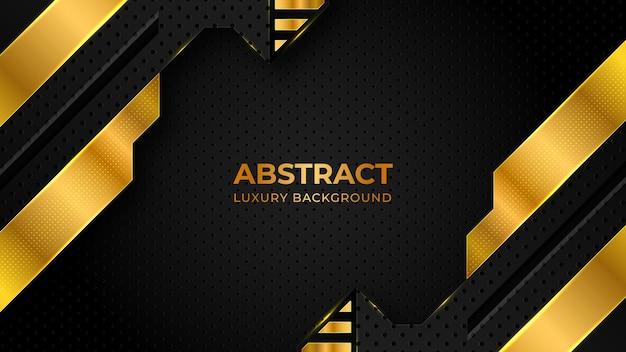 Modèle de conception de fond de luxe motif abstrait demi-teinte doré