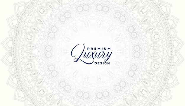 Modèle de conception de fond ornemental mandala blanc décoratif