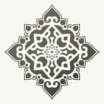 Modèle de conception de fond plat mandala