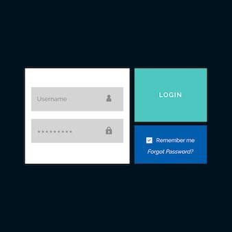 Modèle de conception de formulaire de connexion de membre créatif