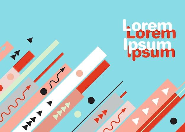 Modèle de conception graphique à la mode moderne illustration vectorielle composition de divers éléments de couleur