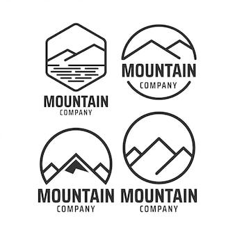 Modèle de conception graphique de montagne
