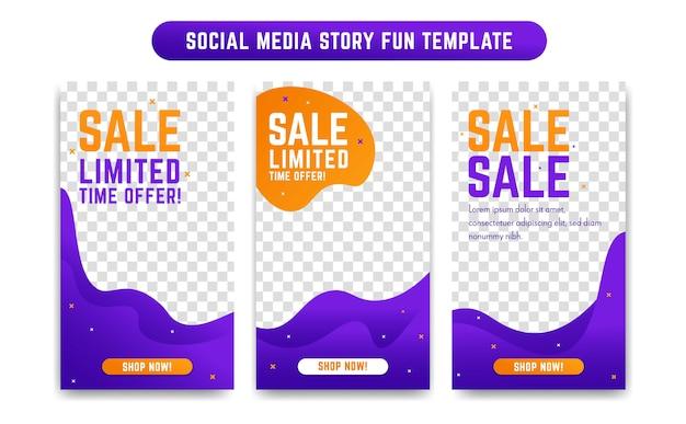Modèle de conception d'histoire de médias sociaux instagram
